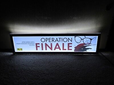 *** OPERATION FINALE [2018] *** S/S 5x25 [LARGE] MOVIE THEATER POSTER [MYLAR]