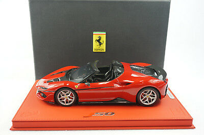 1/18 Bbr Ferrari J50 50Th Anniversary Japan Red Deluxe Leather Base Le 15 Pc Mr