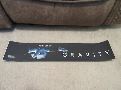 *** GRAVITY [2013] *** S/S 5x25 [LARGE] MOVIE THEATER POSTER [MYLAR]