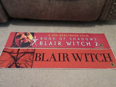 * BLAIR WITCH + BOOK of SHADOWS * 5x25 [LARGE] MOVIE THEATER POSTER [MYLAR] LOT