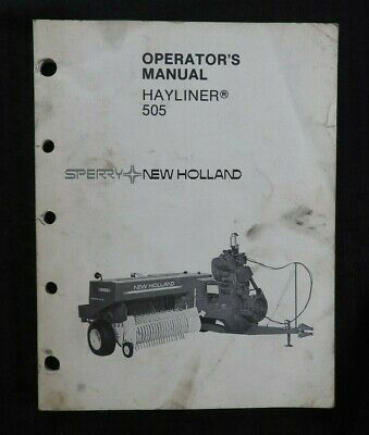 Original New Holland 855 Hayliner Baler Operators Manual Very Good Shape