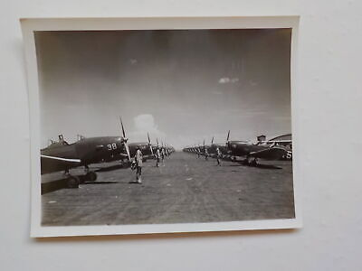 WWII Photo Fighter Planes 44th Bomb Squadron Brigadier General Photograph WW2