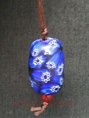 Rare Collection Old China Pretty Glaze Flower Pendant Necklace Decoration Gift