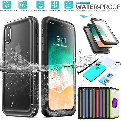 Slim Waterproof Dirt Shockproof Heavy Duty Case Cover For iPhone XS X 8 7 6 Plus
