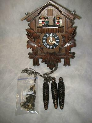 D. Hones W. German Musical Motion Chalet Cuckoo Clock ~ As Is ~ Parts or Repair