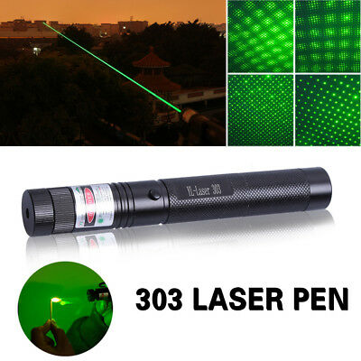 Military Powerful Green Laser Pointer Pen 532nm Bright &18650 Battery AU!