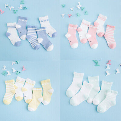 5Pairs Baby Boy Girl Kids Cartoon Cotton Socks NewBorn Infant Toddler Soft Sock