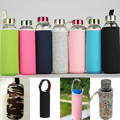 420/550mL Sport Water Bottle Cover Neoprene Insulated Sleeve Bag Case Pouch Gift