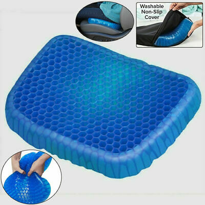UK Breathable Egg Sitting Gel Flex Cushion Seat Flex Pillow Back Support Blue