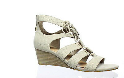 fc9f4a31f46 UGG WOMENS YASMIN Snake Horchata Open Toe Heels Size 9 (124975)