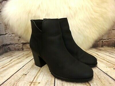 2b667215 WOMEN'S CLARKS VERONA Trish Zip-up Ankle Boots in BLACK LEATHER UK 6 ...