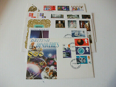 1968 to 1969 Pre Decimal First Day Covers x5 Typed or Unaddressed