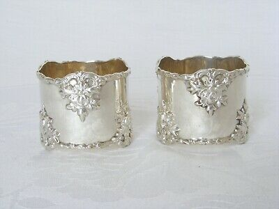 Edwardian, Pair of Superb Quality, Solid Silver Napkin Rings – Birmingham 1906