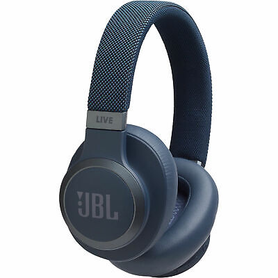 JBL Wireless Over-ear Noise Canceling Headphones with detachable cable (Blue)