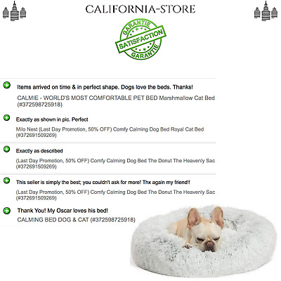 (Last Day Promotion, 50% OFF) Comfy Calming Dog Bed The Donut The Heavenly Sac