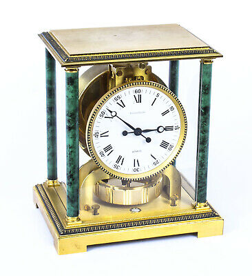 Vintage Atmos Vendome Jaeger le Coultre Mantle Clock Box & Papers 20th C