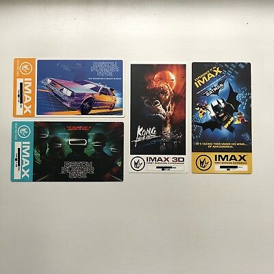 Ready Player One & King Kong IMAX Collectors Ticket Poster 4 Set LEGO Batman Lot