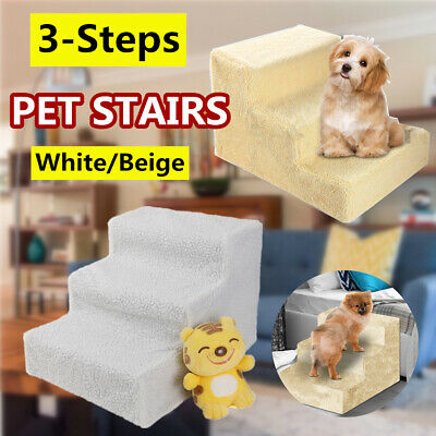 Pet Stairs 3 Step Climb Dog Ladder w/ Cover Cat Small Pet Ramp Steps Stair