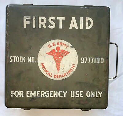 Original WWII US Army 24-Unit Vehicle 1st Aid Kit for Willys MB Ford GPW Jeep