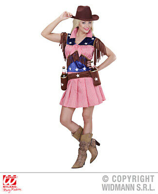 Ladies Rodeo Cowgirl Outfit for Wild West Cowboy Cowgirl Fancy Dress Costume