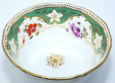 ANTIQUE REGENCY COALPORT ENGLISH PORCELAIN GILDED LARGE SLOP BOWL c1825