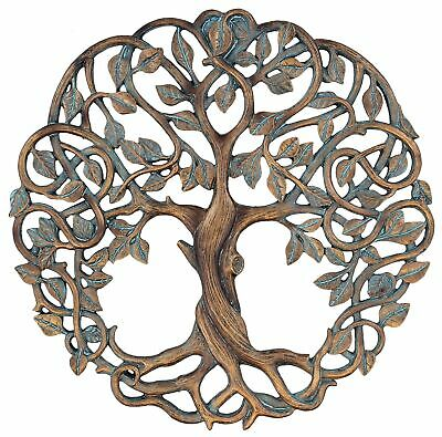"Tree of Life Wall Plaque 11 5/8"" Decorative Celtic Garden Art Sculpture Coppe..."