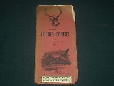 1902 A Map Of Epping Forest By E. N. Buxton - London - J 3935