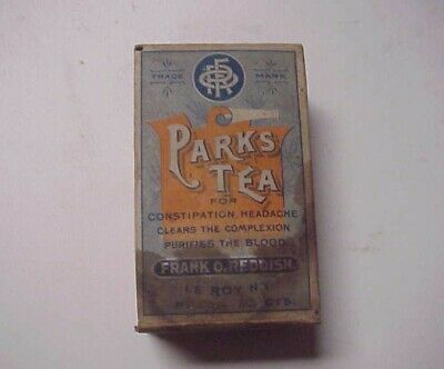 Antique Early 1900's Frank O Reddish - Parks Herb Tea - Quack Medicine -Unopened