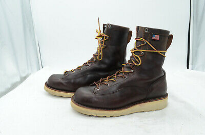 ab8629f3aa4 DANNER QUARRY USA Mens Sz 10 GTX Leather Steel Toe Biker Logger Work ...