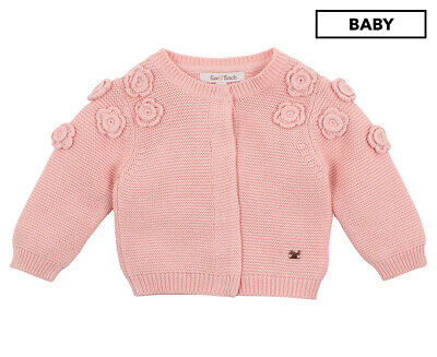 Fox & Finch Baby Fleur Flower Cardigan - Dusty Pink