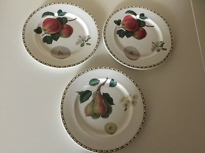Queen's Hookers Fruit China 8.5 inch Salad Plate - Lot of 3