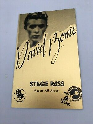 1970's DAVID BOWIE Stage Pass - Concert Productions Int. NOS