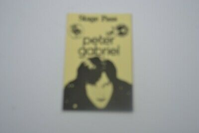 1970's PETER GABRIEL Stage Pass - Concert Productions Int. NOS