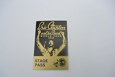 1978 ERIC CLAPTON and his Band World Tour Back Stage Pass - Concert Prod. Int'l.