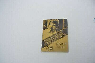 1970's SANTANA Back Stage Pass - Concert Productions Int. NOS