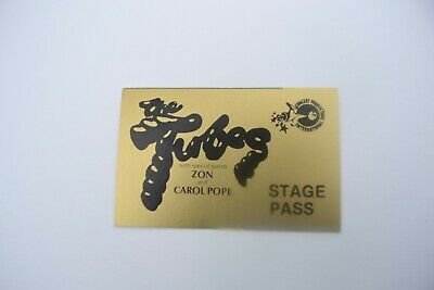 1970's THE TUBES, ZON, CAROL POPE Back Stage Pass - Concert Prod. Int'l. NOS