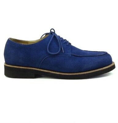 Mens New Blue Suede Remix Rockabilly Vintage Shoes