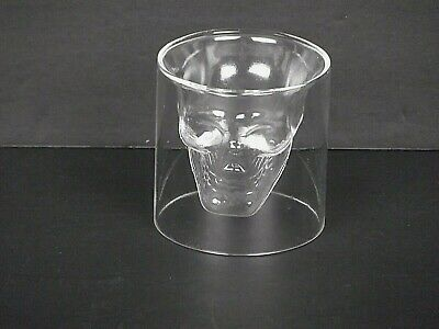 Fred Doomed Shot Glass Skull Skeleton Head Figure Inside for Liquor Bar Ware Bar
