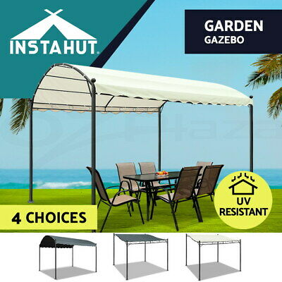 Instahut Outdoor Gazebo Iron Art Gazebos Party Wedding Event Marquee Tent Canopy