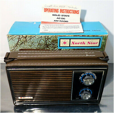 NOS, Vintage 1970's NORTH STAR Model 1406 Solid State AC/CD AM Portable Radio