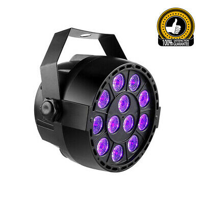 12 LED 12W RGBW Sound Active Par Bar Stage Strobe Light DJ Disco DMX-512 Party