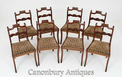Set Regency Dining Chairs - Mahogany Antique 19th Century
