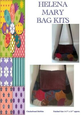 Helena Mary Patchwork Bag Making Kit -Large Checkerboard Bubbles Flannel Bag Kit