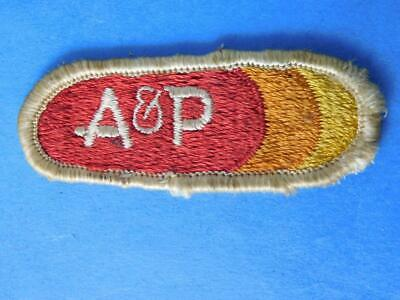 A&P Grocery  Store Supermarket Vintage Patch Employee Uniform Badge