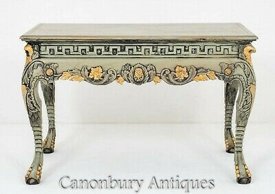 Pair Chippendale Console Tables - Antique Gilded Circa 1900
