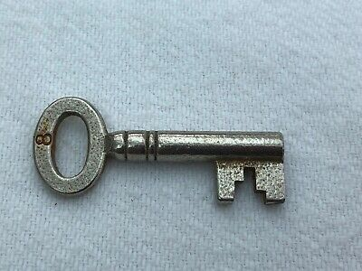 edwardian number 8 steel key ! deedbox or china cabinet .number 8 . ref 2