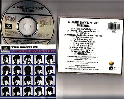 THE BEATLES- A Hard Day's Night CD (1964 Album) Parlophone ENGLAND UK *NO IFPI*