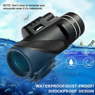40X60 Day &Night Vision Dual Focus HD Optics Zoom Monocular Telescope UK Seller