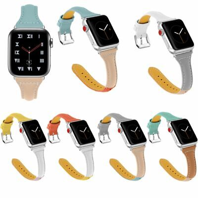 Para Apple Watch Series 1/2/3/4 38/42/40/44 mm correa de reloj de cuero genuino