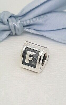 89eb4f278 Authentic Pandora Letter F Alphabet Block Letter Charm 790323F Retired